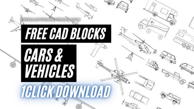 AutoCAD Vehicles Cars, Airplane, Ships, and Boats CAD Blocks Free Download