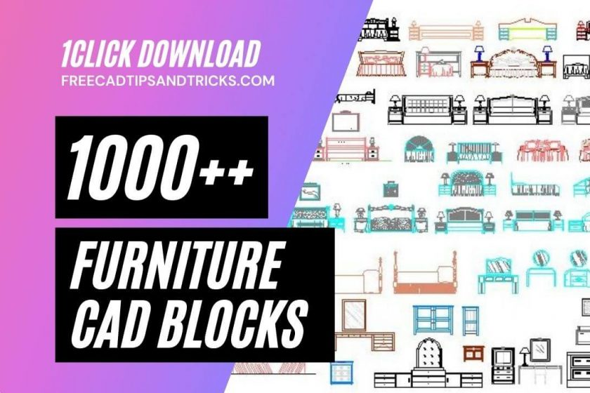 AutoCAD Blocks Furniture, Chairs, Tables, Beds Cad Blocks Free Download