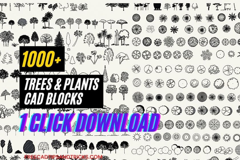 1000+ Trees and Plants free CAD Blocks, DWG files free download