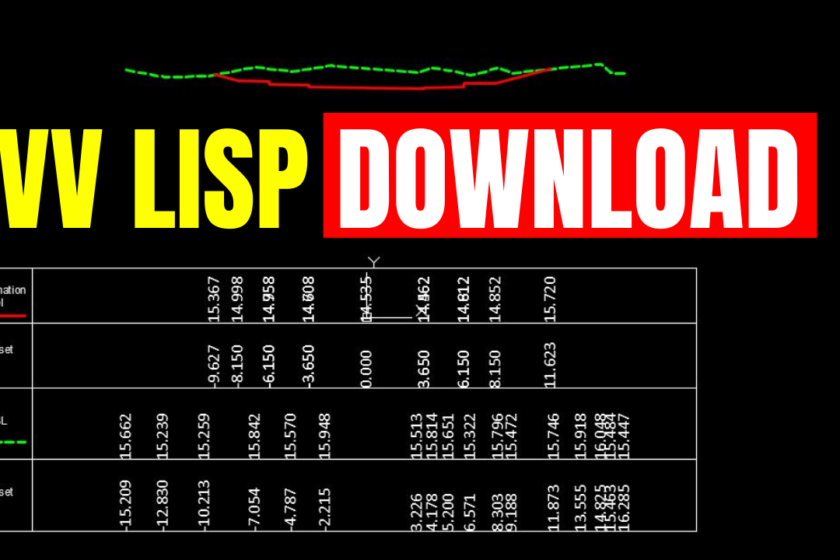 VV Lisp file Download Free Write Offset Elevations in Sections